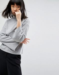 Love this?  ASOS Jumper with High Neck and Bell Sleeves - Grey - http://www.fashionshop.net.au/shop/asos/asos-jumper-with-high-neck-and-bell-sleeves-grey/ #And, #ASOS, #Bell, #ClothingAccessories, #Female, #Grey, #High, #Jumper, #Knitwear, #Neck, #Sleeves, #With, #Womens, #WomensJumpers #fashion #fashionshop