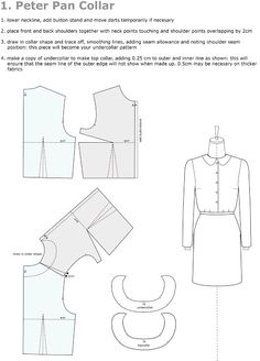 Introduction to Pattern Cutting 01: Peter Pan Collar