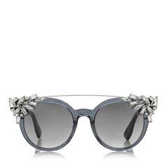 1ca7425bda3 Jimmy Choo Glint S Fashion Sunglasses Black Glitter Gray Dark Gray Gradient  Lens