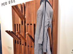 per/use, coat rack, folding coat rack, wall-mounted coat rack, sustainable design - Biennale Interieur 2014, Belgium, Kortrijk