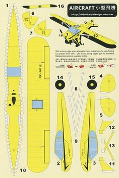 Aircraft - Cut Out Postcard - melanie vos - - wood ideas - Origami 3d Paper Art, Paper Car, Paper Glue, Paper Toys, Paper Airplane Models, Model Airplanes, Paper Models, Paper Planes, Paper Aircraft