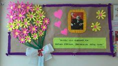 Öğretmenler Günü School Board Decoration, Class Decoration, School Decorations, Diy Arts And Crafts, Crafts For Kids, Paper Crafts, Bunny Crafts, Flower Crafts, Classroom Activities