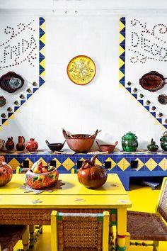 Frida Kahlo's Casa Azul in Coyoacán, Mexico.