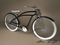 Velo Beach Cruiser, Custom Beach Cruiser, Cruiser Bicycle, Motorized Bicycle, Beach Cruisers, Velo Vintage, Vintage Bicycles, Bmx, Bici Retro