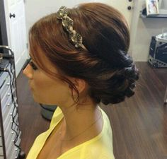 Headband & Updo. Cute