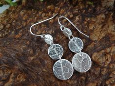 Long dangle silver earrings real leaf circle drops nature https://www.etsy.com/uk/listing/251482330/long-dangle-silver-earrings-real-leaf?ref=related-4