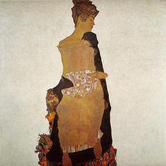 Portrait of Gerti Schiele, 1909   by Egon Schiele