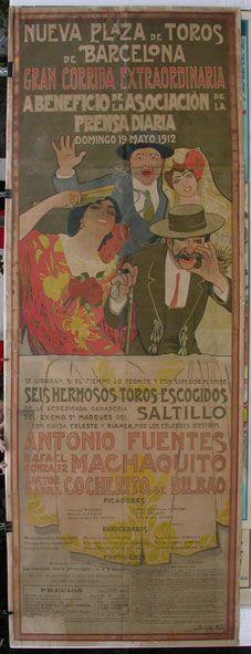 montepio de toreros | Gili, B. (Cartel Mural de Toros) BARCELONA 1912
