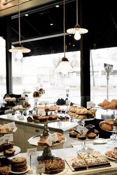 Ah, the pretty things yummy кофейня, кафе, пекарни. Cafe Bar, Cafe Shop, Bakery Cafe, Cafe Restaurant, Restaurant Design, Bakery Shops, Bakery Design, Cafe Design, Design Design