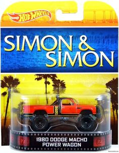 Hot Wheels 1980 Dodge Macho Power Wagon Simon & Simon 1:64 Scale MPN-BDT79  #HotWheels #Dodge