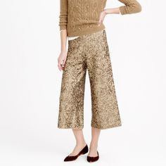 Collection merino wool culotte in sequin
