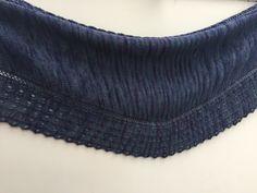 A side shawl by Tricosa; yarn by posh Shawl, Knitting, Tricot, Cast On Knitting, Stricken, Weaving, Knits, Yarns, Scarfs