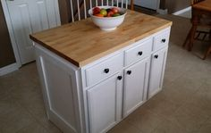 You don't have to spend a large amount of money to add a kitchen island to a new or existing kitchen. If your kitchen square footage is big enough, you can add one yourself. Hiring a contractor or a cabinet How To Install Kitchen Island, Homemade Kitchen Island, Kitchen Islands, Home Improvement Contractors, Home Improvement Projects, Kitchen Flooring, Kitchen Furniture, Furniture Projects, Kitchen Countertops