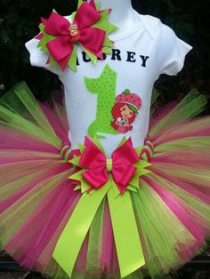 Handmade Strawberry Short Cake inspired tutu set by Partyadvantage, $40.00