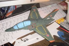 Yakovlev Yak-130 Ver.2 Free Aircraft Paper Model Download - http://www.papercraftsquare.com/yakovlev-yak-130-ver-2-free-aircraft-paper-model-download.html#148, #AircraftPaperModel, #Yak130, #Yakovlev, #YakovlevYak130