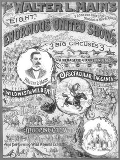 Main's United Shows Circus poster