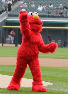 Elmo throws out the first pitch before the White Sox played the Tigers in  Chicago on b077d7941