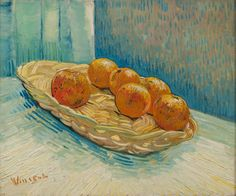 Van Gogh, Basket of Oranges, March 1888. Oil on canvas, 45 x 54 cm. Private collection.