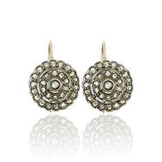 Rosegold Earrings with Diamonds Ohrringe Rosette mit 1,636 ct Diamanten in  Rosegold