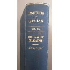 The Institutes of Cape Law. The Colony of The Cape Of Good Hope. The Law of Obligations. in the Africana Books category was listed for on 5 Feb at by TomHarvey in Vereeniging Book Categories, Kinds Of Music, Book Collection, Survival Tips, Listening To Music, Style Guides, Colonial, Cape, Finding Yourself