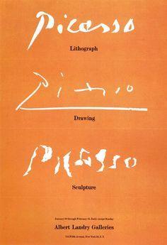 picasso exhibition · albert landry galleries · 1957 © George Tscherny
