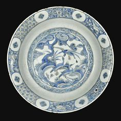 A Safavid Blue and White Dish, Persia, 17th Century | lot | Sotheby's