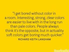Great quote on color...