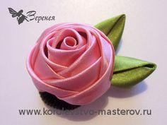 Rose cinta de raso. Taller: Cómo hacer una rosa de cintas de raso con sus propias manos.