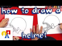 How To Draw A Football Helmet - Art for Kids Hub