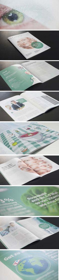 SRO Spital Region Oberaargau – Patientenmagazin 2. Ausgabe, Layout, Gestaltung, Typografie Communication Design, Layout, Communication, Typography, Page Layout