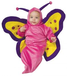Deluxe Baby Bunting, Butterfly Costume, 1 to 9 Months - costumes This sweet Newborn Butterfly Bunting will parallel how the little one in your life will blossom into a gorgeous creature! The nature loving baby will adore weari Butterfly Halloween Costume, Cute Baby Halloween Costumes, Toddler Costumes, Halloween Kostüm, Girl Costumes, Costume Ideas, Infant Halloween, Adult Costumes, Purim Costumes
