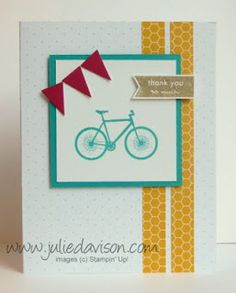 Julie's Stamping Spot -- Stampin' Up! Project Ideas by Julie Davison: My Paper Pumpkin: Pedal Praise Samples for August