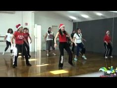 Christmas Zumba- Jingle Belele (using weights or Zumba toning sticks will give you a good workout to this song.)