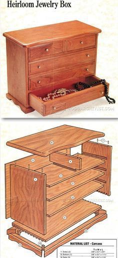 Heirloom jewelry Box Plans - Woodworking Plans and Projects   WoodArchivist.com