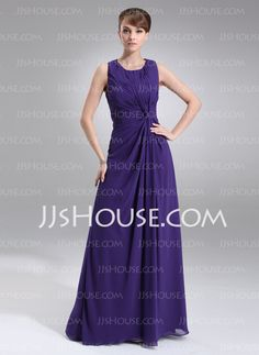 Mother of the Bride Dresses - $128.99 - Sheath Scoop Neck Floor-Length Chiffon Mother of the Bride Dress With Ruffle (008005977) http://jjshouse.com/Sheath-Scoop-Neck-Floor-Length-Chiffon-Mother-Of-The-Bride-Dress-With-Ruffle-008005977-g5977
