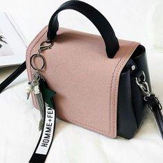 The most beautiful bag models Stylish Handbags, Fashion Handbags, Purses And Handbags, Fashion Bags, Pink Handbags, Large Handbags, Emo Fashion, Cute Mini Backpacks, Stylish Backpacks