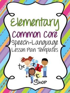 This bundle includes concise, effective lesson plan templates for K-5.  There are PDF and editable Word documents included.  Each grade level is included on a separate sheet.  CCSS for Language and Speaking/Listening are included in each template with check boxes for a quick reference.