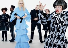 Layers of Intrigue - When a timeless cupcake blue is worked into sensuously tiered ruffles, the effect is curiouser and curiouser. (The houndstooth-friendly pattern of Ms. Manxome [Anna Francolini], though, appears downright fraught.) Jenner in a Proenza Schouler dress.