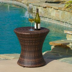 Christopher Knight Home Adriana PE Wicker Outdoor Accent Table - Overstock Shopping - Big Discounts on Christopher Knight Home Coffee & Side Tables