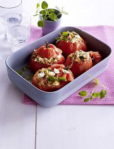 Unser beliebtes Rezept für Gefüllte Tomaten mit Couscous, Schafskäse und Zucchini und mehr als 55.000 weitere kostenlose Rezepte auf LECKER.de.