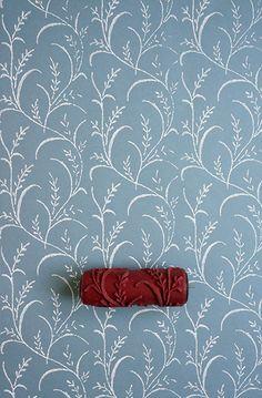 Roller paint wallpaper