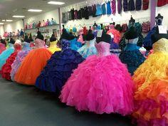 Lucrecias Fashion!  The BIGGEST XV dress shop in Texas!!  http://www.houstonquinceanera.com/lucrecias-fashion