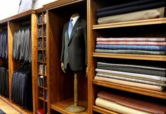 A handsome image of Huntsman's Savile Row showroom.