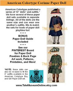 Paper Dolls _ Antique American Colortype by TateMuseumOnline