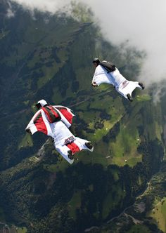 Wing Suit base jumping: I say on the list, Travis says off the list. Stay tuned to see who wins. Base Jumping, Bungee Jumping, Sky Surfing, Wingsuit Flying, Hang Gliding, Paragliding, Freestyle, Skydiving, Mans World