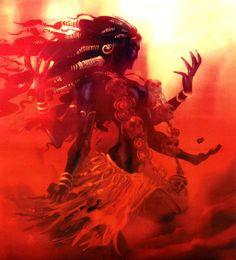 shiva and kali Indian Goddess, Kali Goddess, Black Goddess, Mother Kali, Divine Mother, Kali Mata, Psy Art, Shiva Shakti, Durga Maa