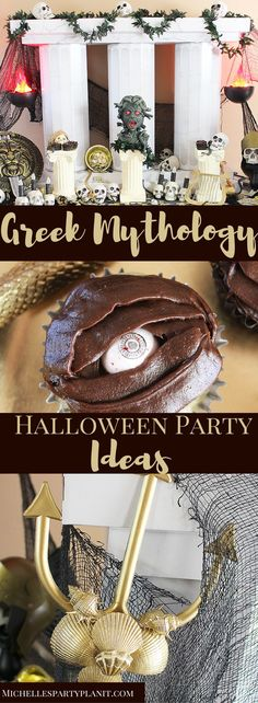 Greek Mythology Halloween Party Ideas - Looking for unique Teen Halloween Party Ideas? How about a Greek  Mythology Halloween Party? Complete with Medusa's lair, Poseidon's  trident & more by Michelle's Party Plan-It.