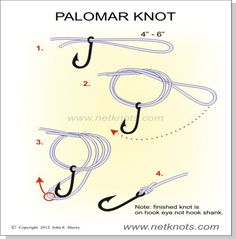 Palomar Knot. This is my favorite knot and is very strong!