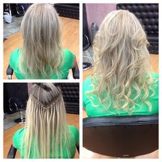 """DreamCatchers hair extensions in a """"V"""" for volume placement! Hair extensions aren't just for length! #EldersburgMD #KatinasHair"""