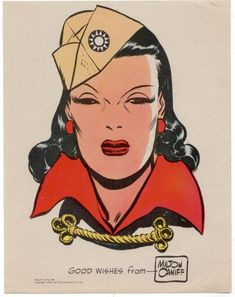 Caniff - Dragon Lady Print & signed Artist: Milton Caniff (Penciller) Envelope with return address and cardboard stiffner. Comic Book Artists, Comic Artist, Comic Books, Comic Movies, Female Dragon, Dragon Lady, Milton Caniff, Comics Vintage, Vintage Art